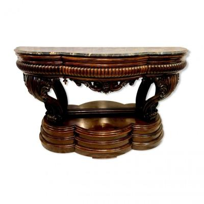 Rosewood Console, XIXth Century