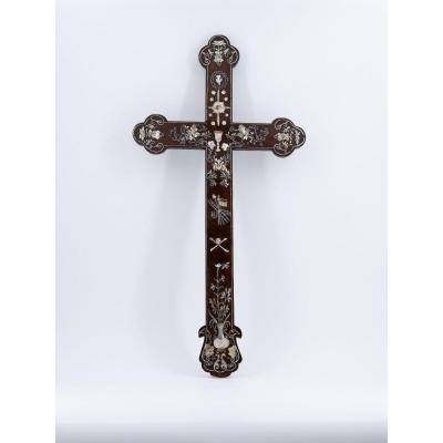 Rosewood Cross, Indochina Or Tonkin, 19th Century