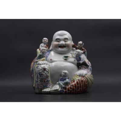 Budai In Glazed Terracotta, 20th Century