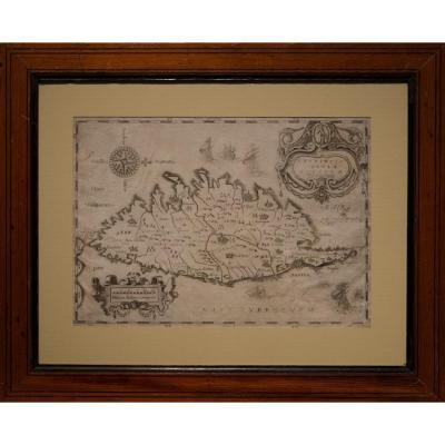 Carte De La Corse XVIIeme
