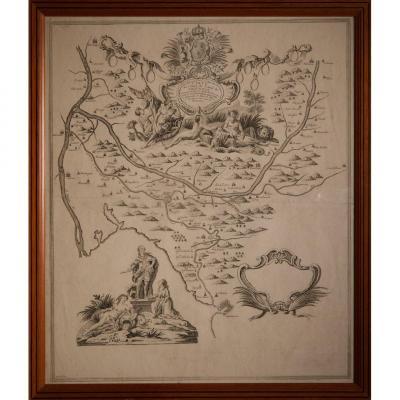 Carte Du Cours Du Canal De Provence XVIIIéme