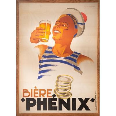 Léon Dupin 1930, Biere Phénix, Imprimerie Joseph Charles