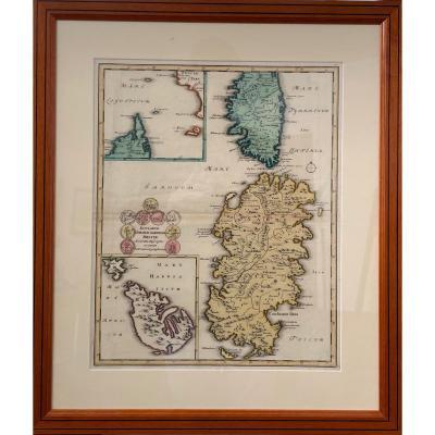 Carte De La Corse Et De La Sardaigne XVIIIème
