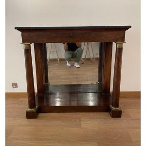 First Empire Console With Detached Columns And Marble Top