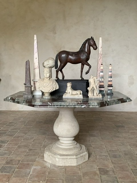 Pedestal Table Marble And Stone
