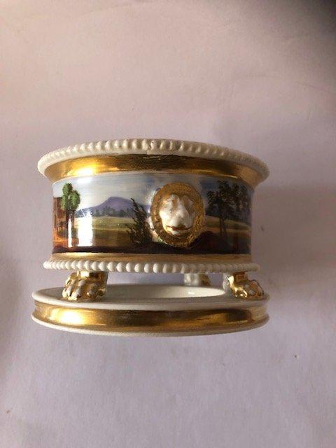Encrier 1er Empire Porcelaine De Paris-photo-1