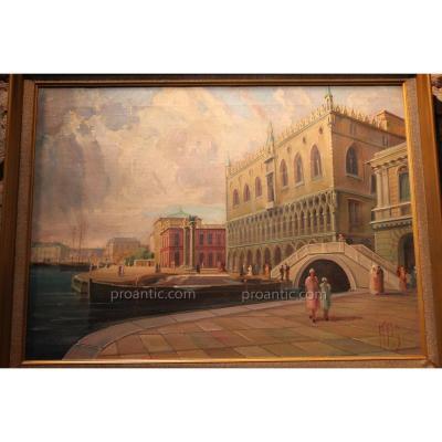 """view Of Venice"" Signed By Svendsberg"