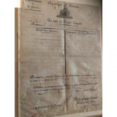 Brevet De Sous-lieutenant. Signe Bonaparte