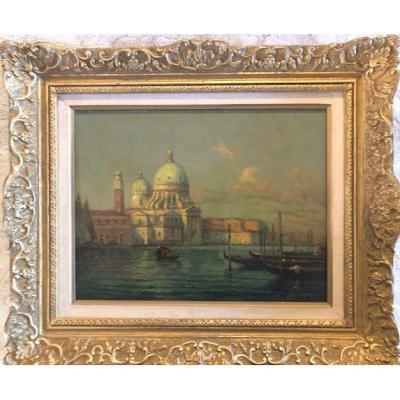Venise. Huile Sur Toile Signée Bouvard