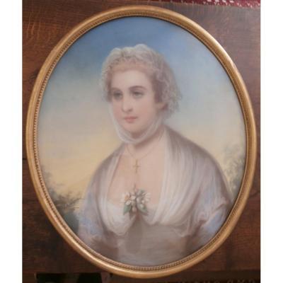 Pastel - Portrait d'Une Jeune Fille