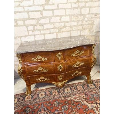 COMMODE TOMBEAU ESTAMPILLE  L.FORTIN