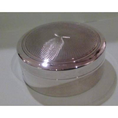 Boite ronde métal argenté  Puiforcat