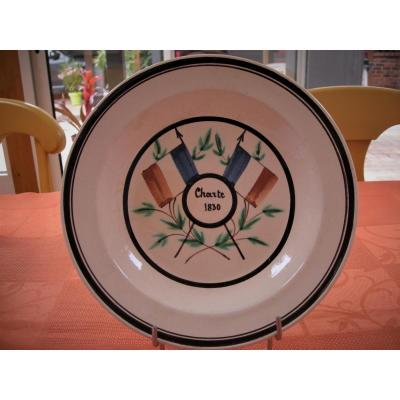 Soup Plate In Fine Faience Of Forges Les Eaux