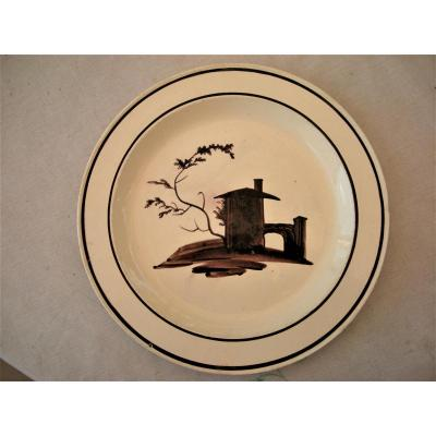 Fine Earthenware Plate 1802 -1812 Charite Sur Loire