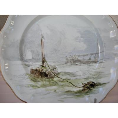 Faience Plate 1889 Rare Service By Ludovic Napoleon Lepic