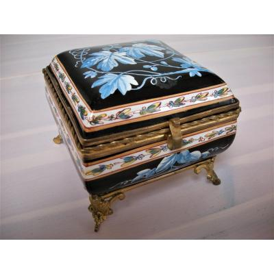 Jewelery Box In Faience 1841 From Montereau