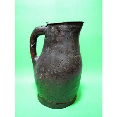 Wine Pitcher, Monoxyle And Covered. Popular Art Auvergne.