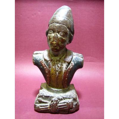 Statuette En Buste D'un Militaire D'époque Louis XVI.