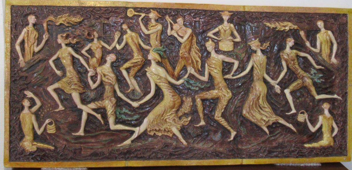 Panneau Céramique Des Années 1930