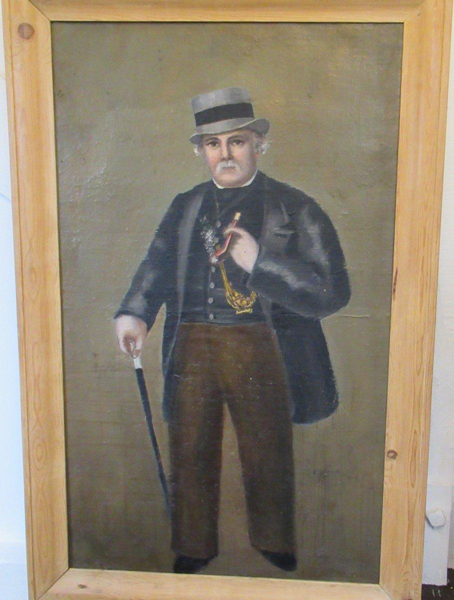 Tableau  Gentleman A La Pipe