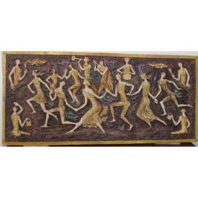1930s Ceramic Panel