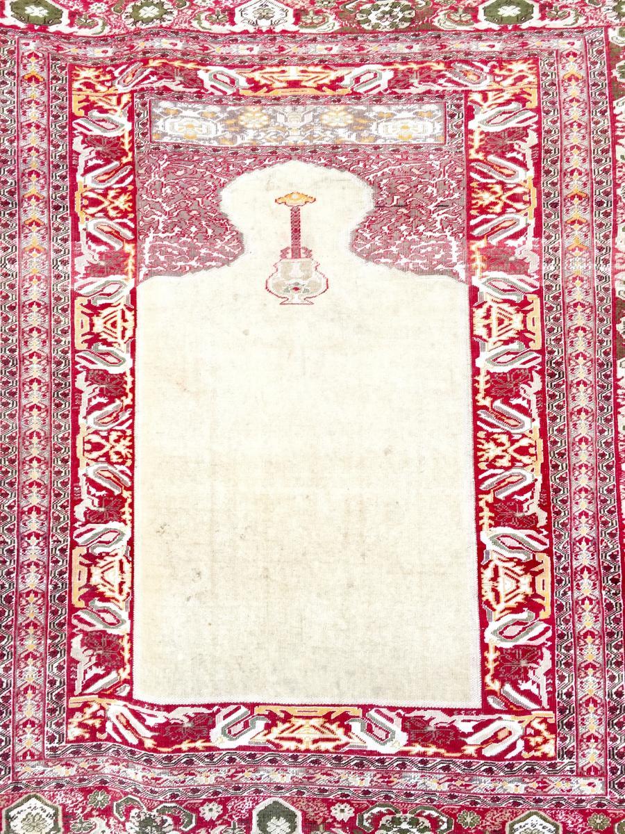Tapis Tabriz Djafer En Soie Signé Iran XIX ème Siècle