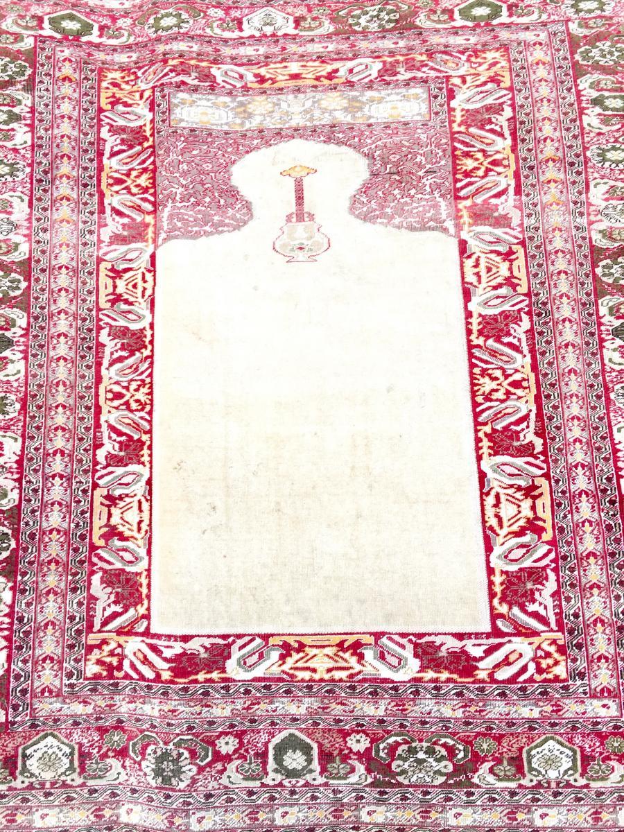 Tapis Tabriz Djafer En Soie Signé Iran XIX ème Siècle -photo-1