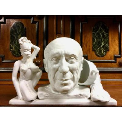 Jean Décloquement Sculpture Representative Picasso Porcelain
