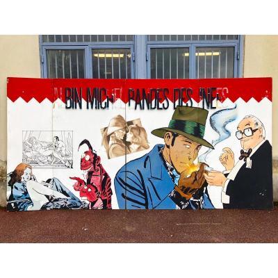 Panneaux Publicitaire peint pour la maison d'édition Albin Michel Grandes Dimensions