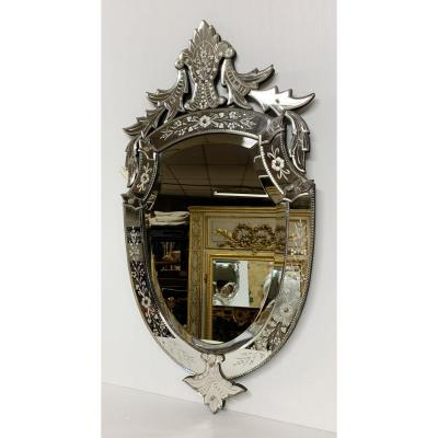 1930s Venice Mirror In Acid Clear Glass