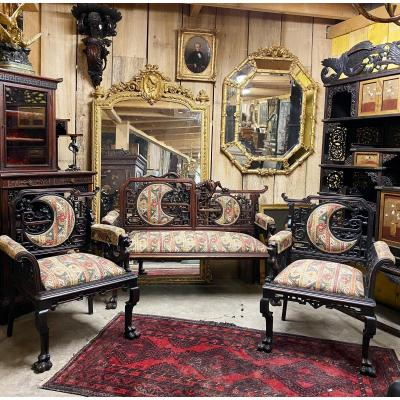 Japanese Living Room Two Armchairs And A Sofa In The Taste Of Gabriel Viardot Napoleon III