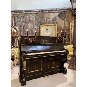 Piano En Vernis Martin Et Bronzes Dorés D'epoque Napoléon III, Aubert à Paris