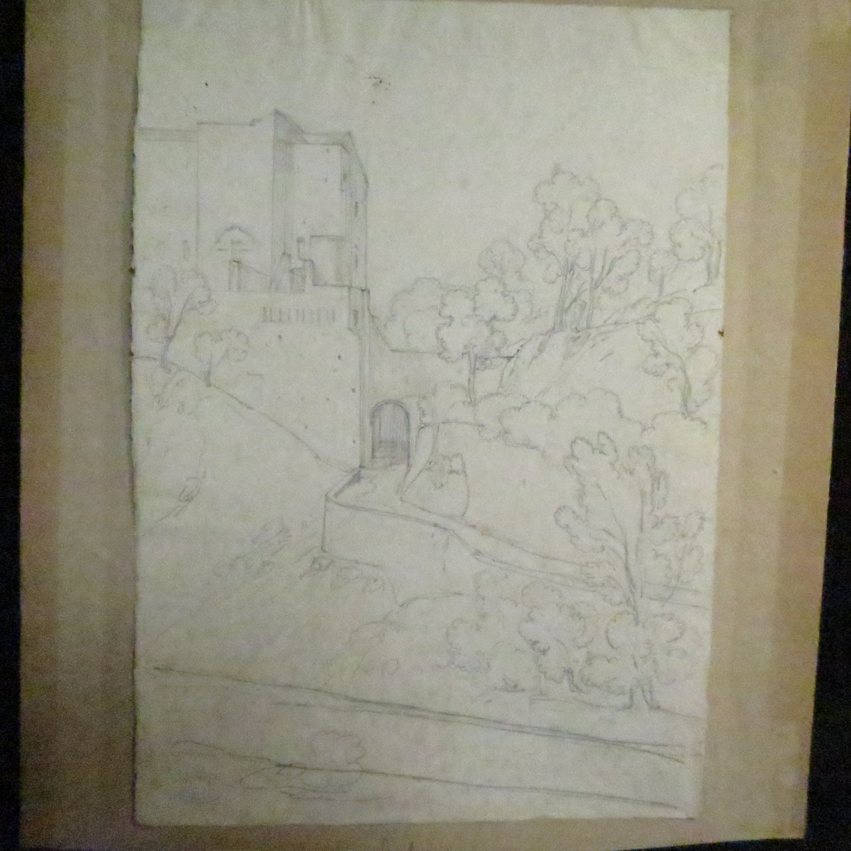 Antoine Edmond Joinville Drawing Double Face Nineteenth View Of Naples Italy