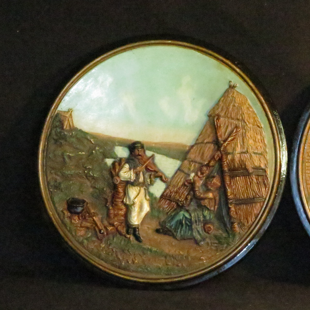 Johann Maresch Pair Of Plates Plates Pottery Central European Gypsies-photo-4
