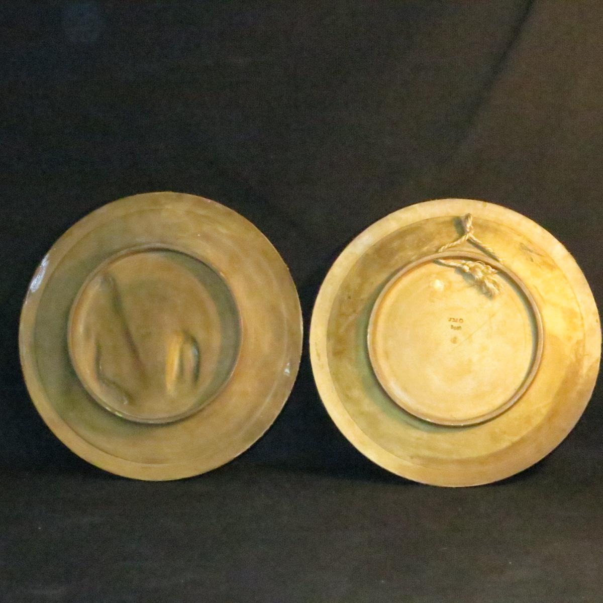 Johann Maresch Pair Of Plates Plates Pottery Central European Gypsies-photo-6
