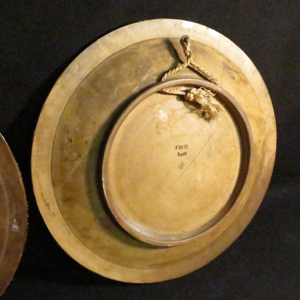 Johann Maresch Pair Of Plates Plates Pottery Central European Gypsies-photo-7