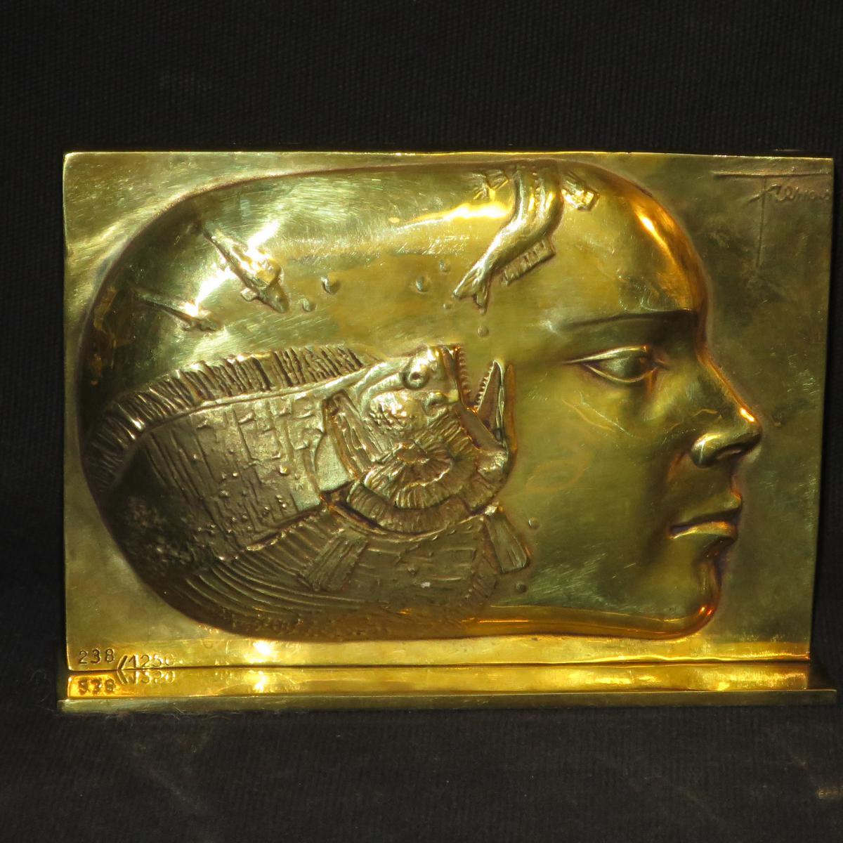 Piere-Yves TREMOIS sculpture en bronze 1988 Trémois