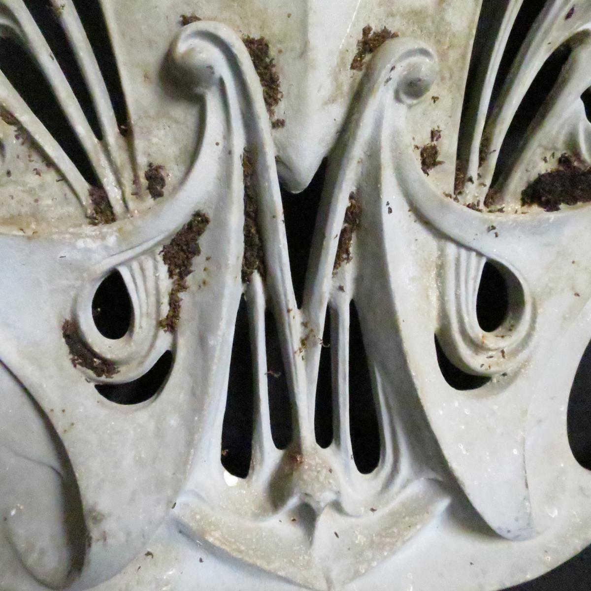 Hector GUIMARD rare plaque en fonte Métropolitain de PARIS métro Art Nouveau