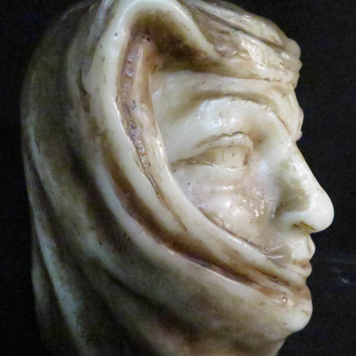 Paul Gaston Déprez sculpture buste en cire oriental méhariste Deprez à Avignon -photo-4