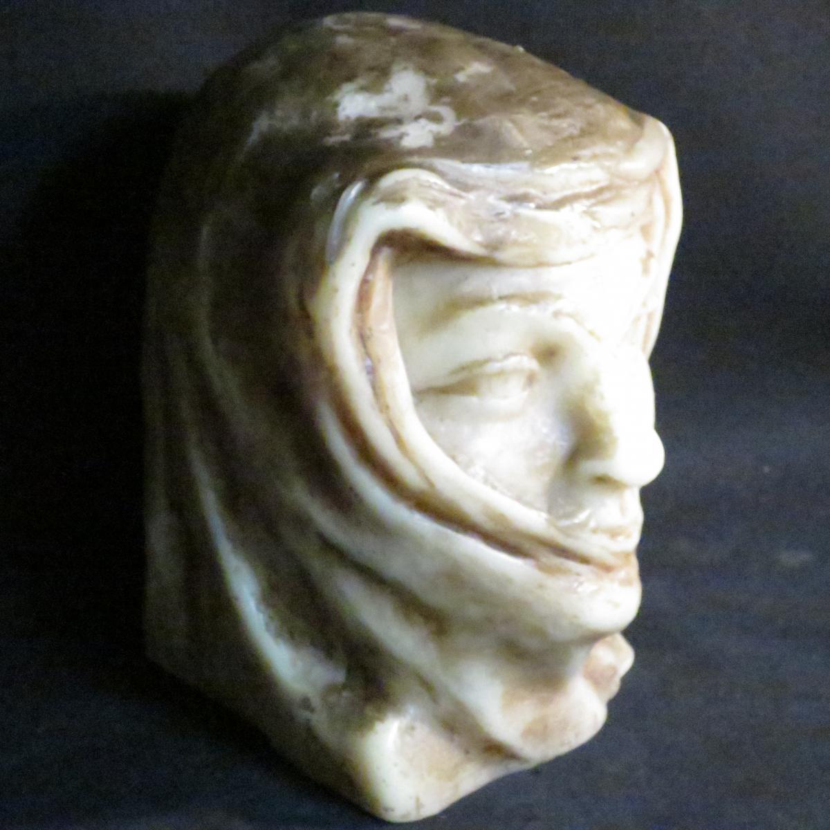 Paul Gaston Déprez sculpture buste en cire oriental méhariste Deprez à Avignon -photo-1