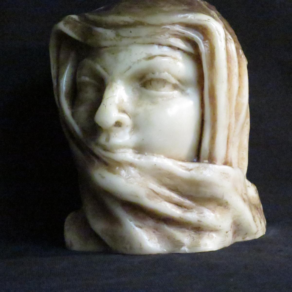 Paul Gaston Déprez sculpture buste en cire oriental méhariste Deprez à Avignon -photo-2
