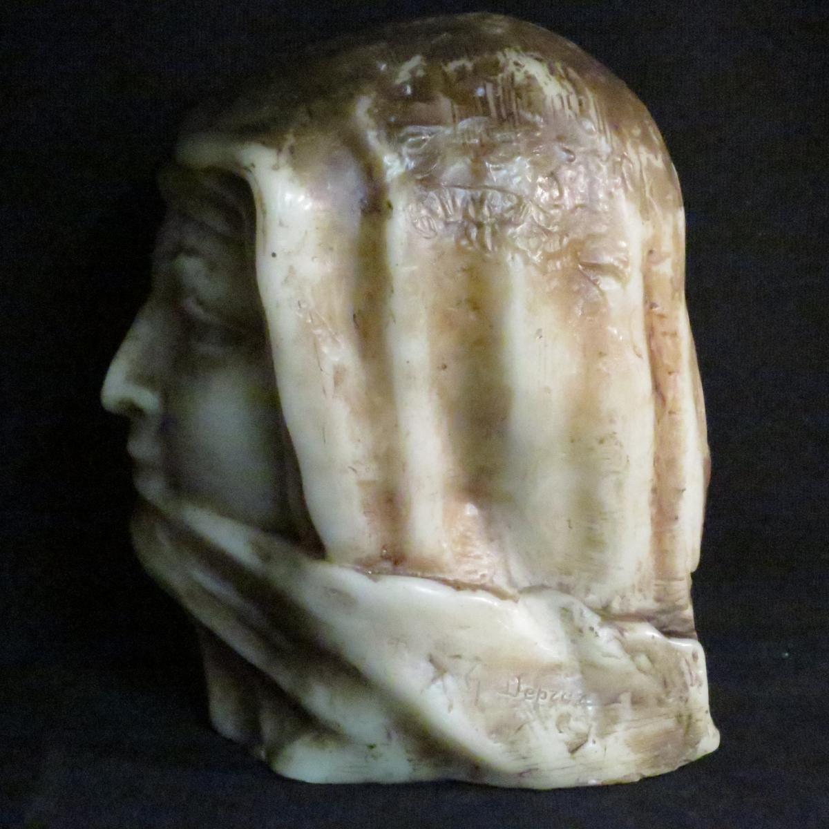 Paul Gaston Déprez sculpture buste en cire oriental méhariste Deprez à Avignon -photo-3