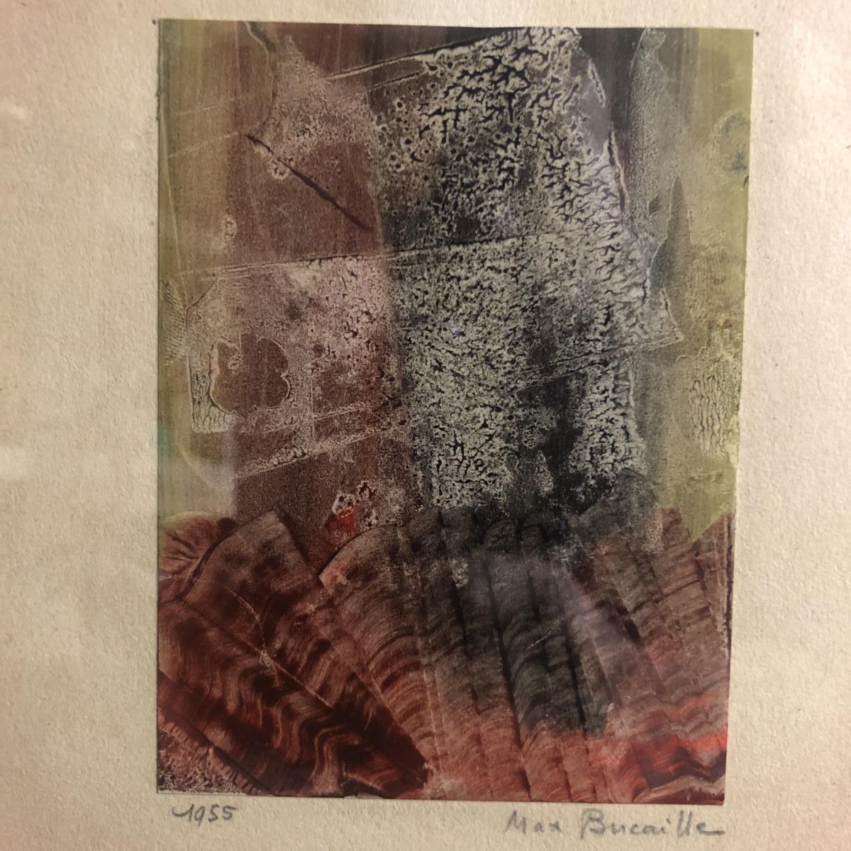 Max BUCAILLE 1906-1996 Composition surréaliste Aquarelle 1955 Surréalisme