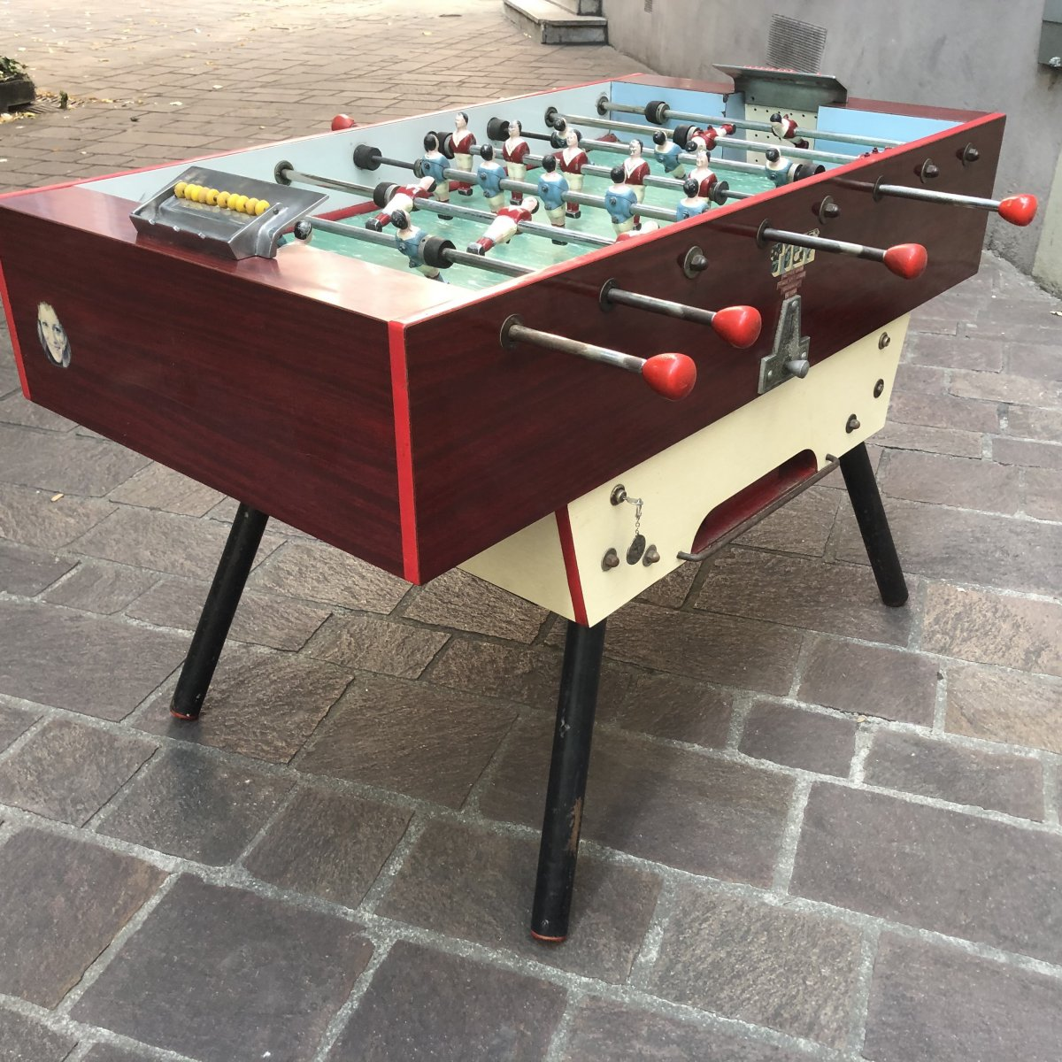 Rare Baby Foot Retro By Bar Design 1960 In Very Good Condition Of Use Bistro Game