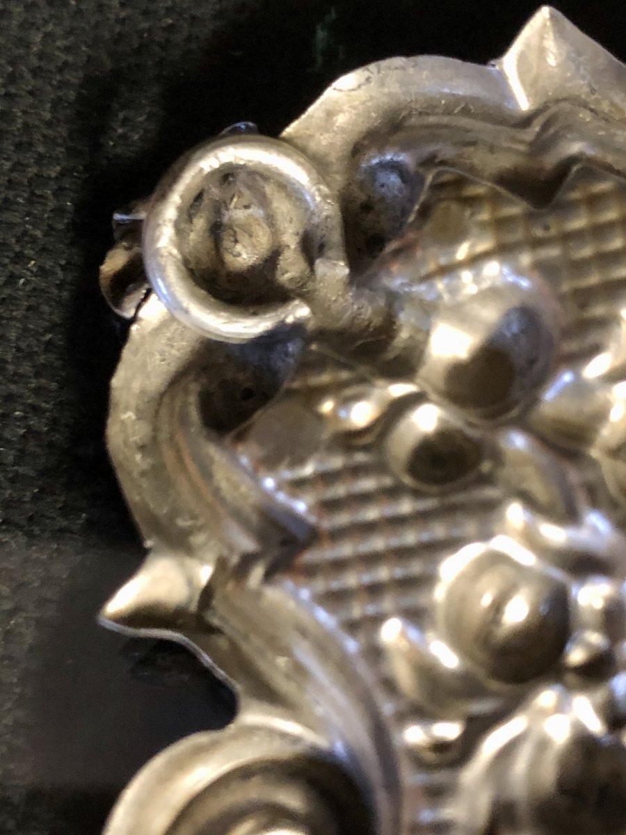 Italie Bénitier en argent et vermeil XIXe Sardaigne Turin coeur-photo-2