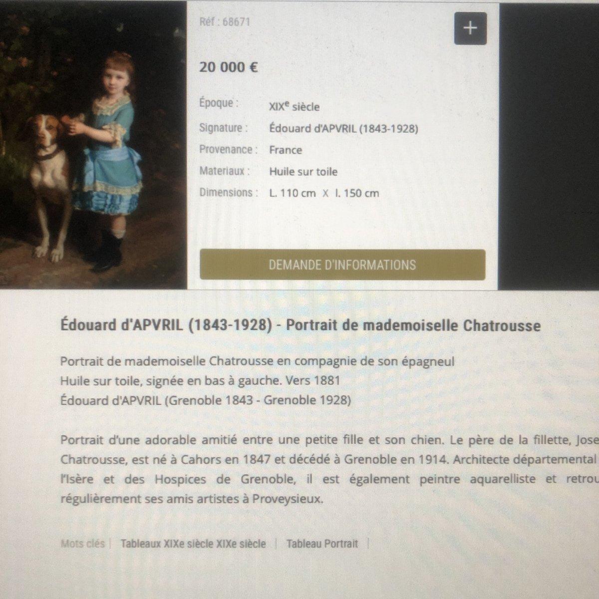 CHATROUSSE 1847-1919 Grenoble Aquarelle de Brides vers Valencin en 1904 Dauphiné-photo-5
