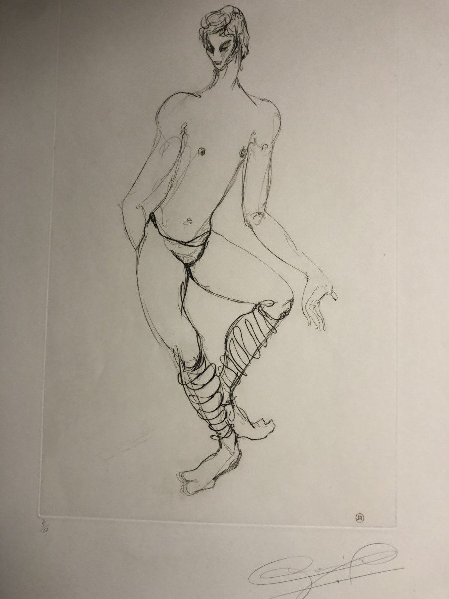 Maurice BEJART Ballet Grande eau forte Alix ANTOINE vers 1960 Danse danseur  -photo-5