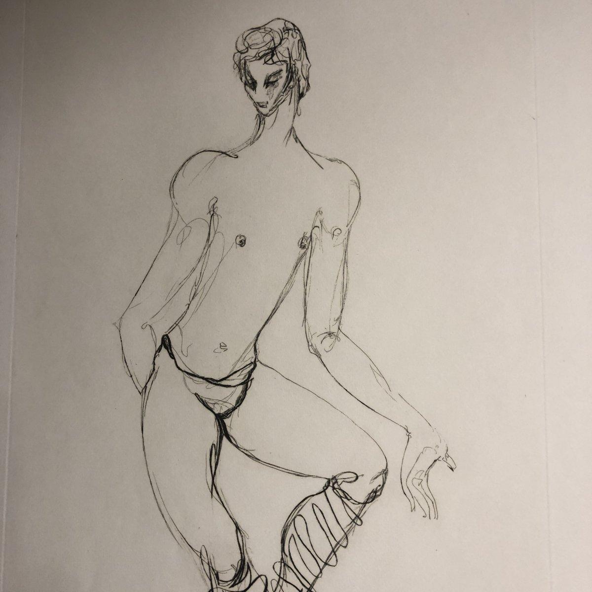 Maurice BEJART Ballet Grande eau forte Alix ANTOINE vers 1960 Danse danseur