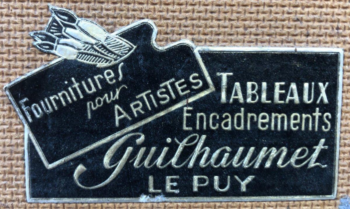 Achille RICHARD 1895-1962 attribué Grande huile PAYSAGE À LA MAISON signé-photo-2