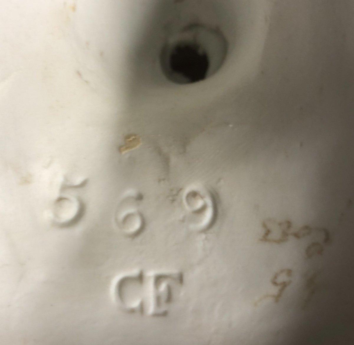 Curieux ENCRIER SINGE chevauchant une GRENOUILLE XIXe en porcelaine émaillée-photo-2